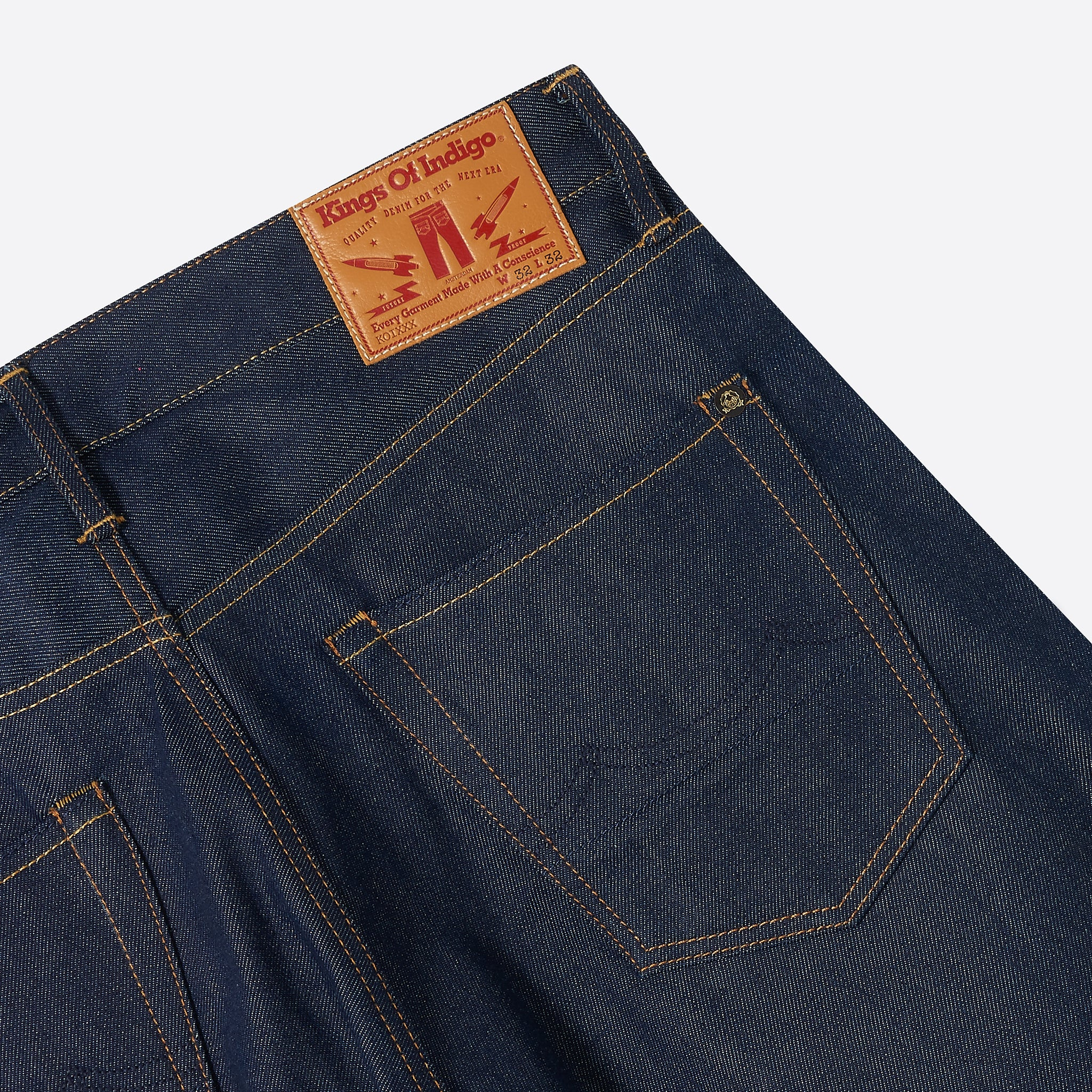 Kings of Indigo Lucius Selvedge Jean in Dry Selvedge