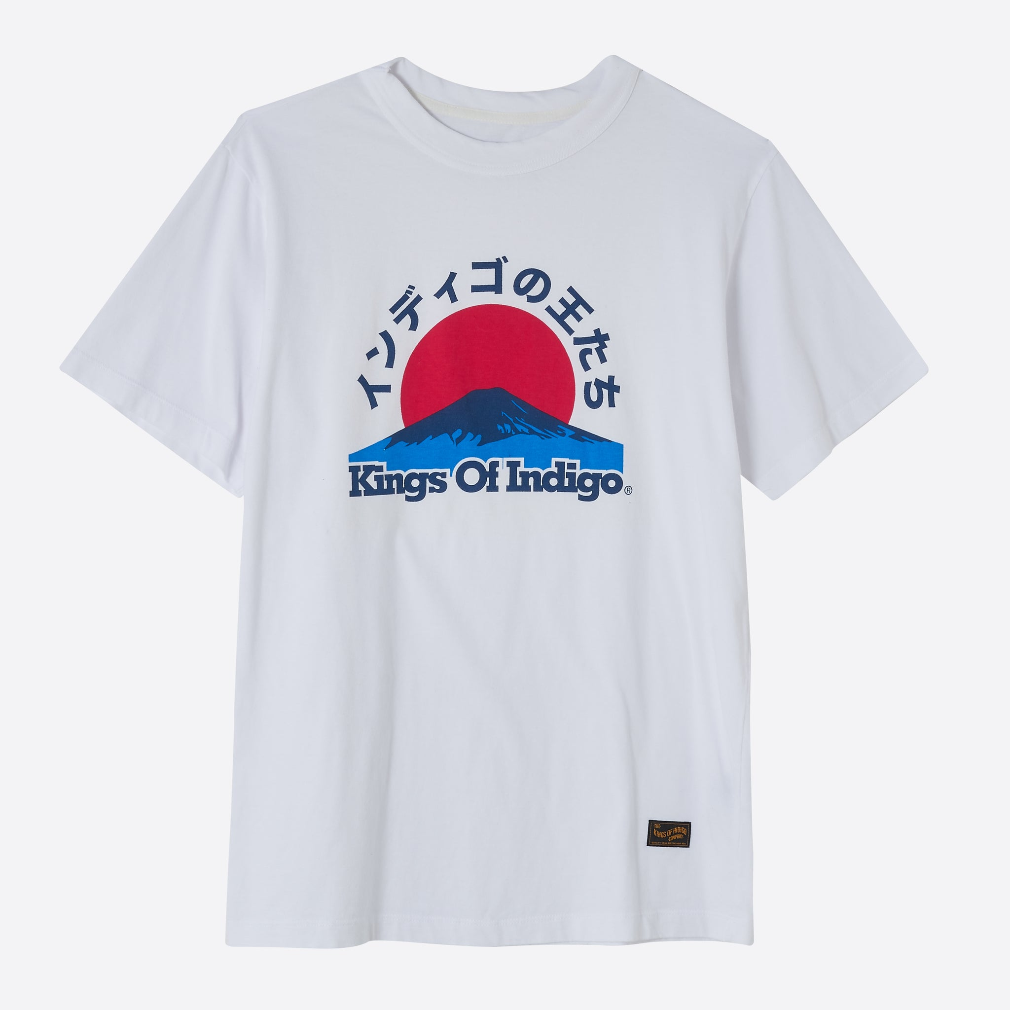 Kings Of Indigo Mount Fuji T-shirt in White