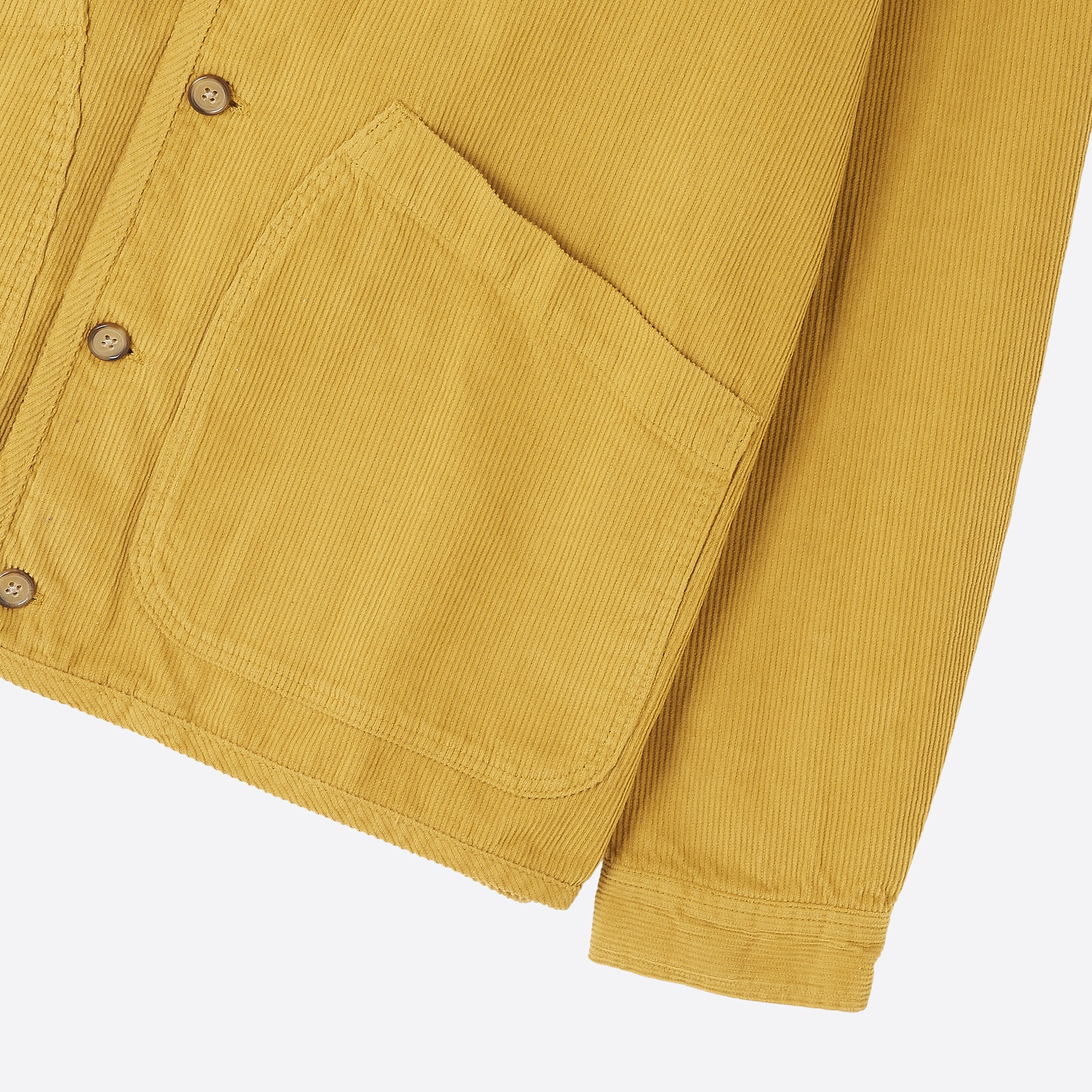 Kestin Hare Neist Cord Overshirt in Old Gold