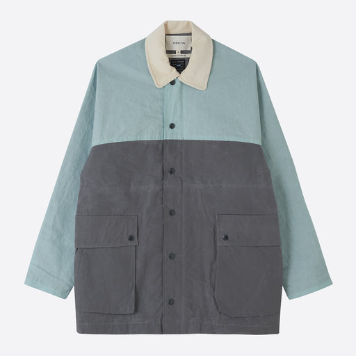 Kestin Hare Lowland Jacket in Slate/Mint Blue