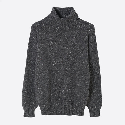 Kestin Hare Donegal Roll Neck in Charcoal