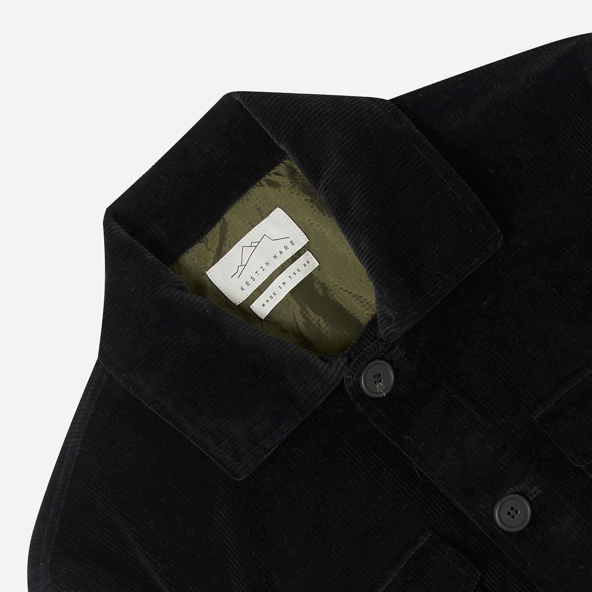 Kestin Hare Field Jacket in Black Corduroy