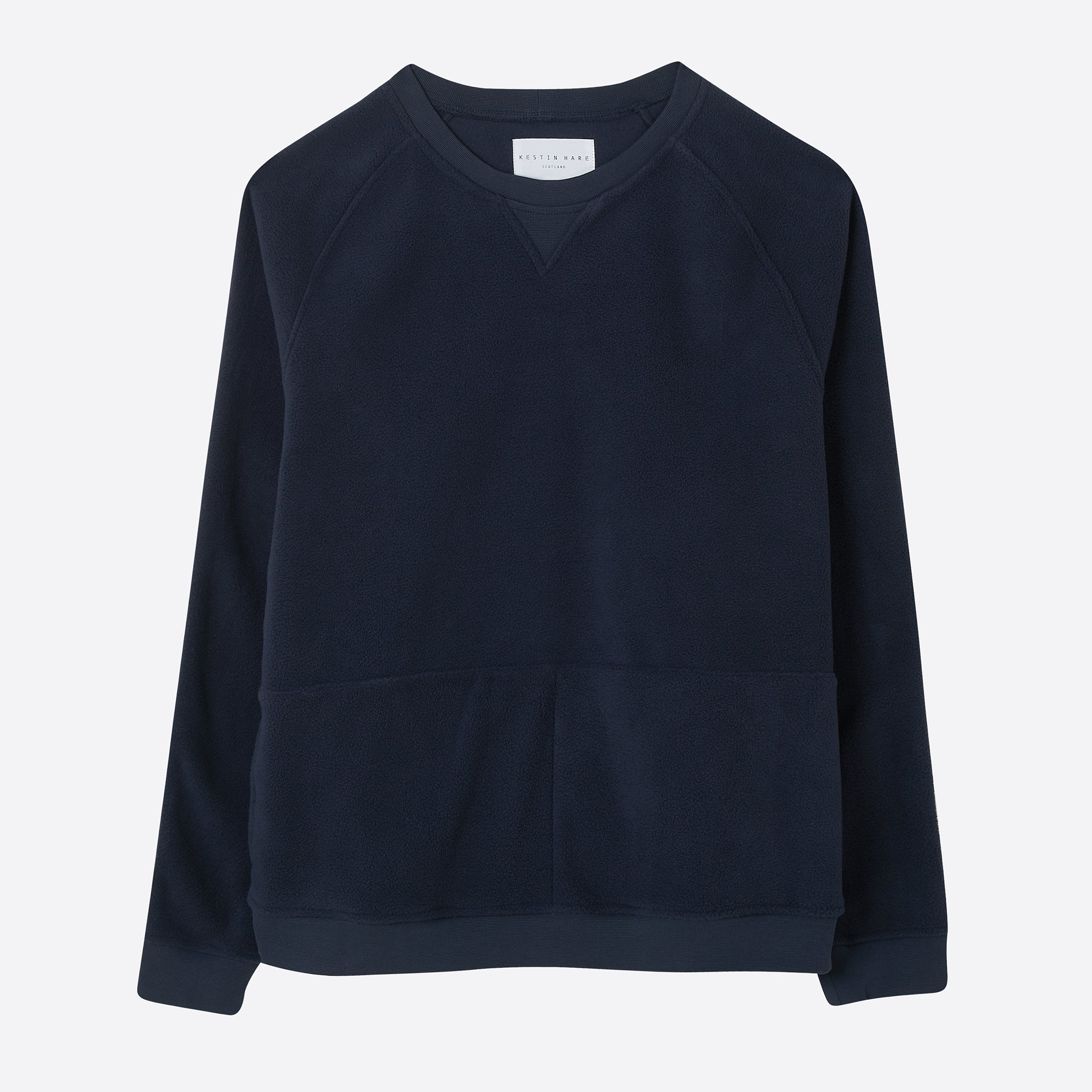 Kestin Hare Haymarket Fleece Sweat in Navy