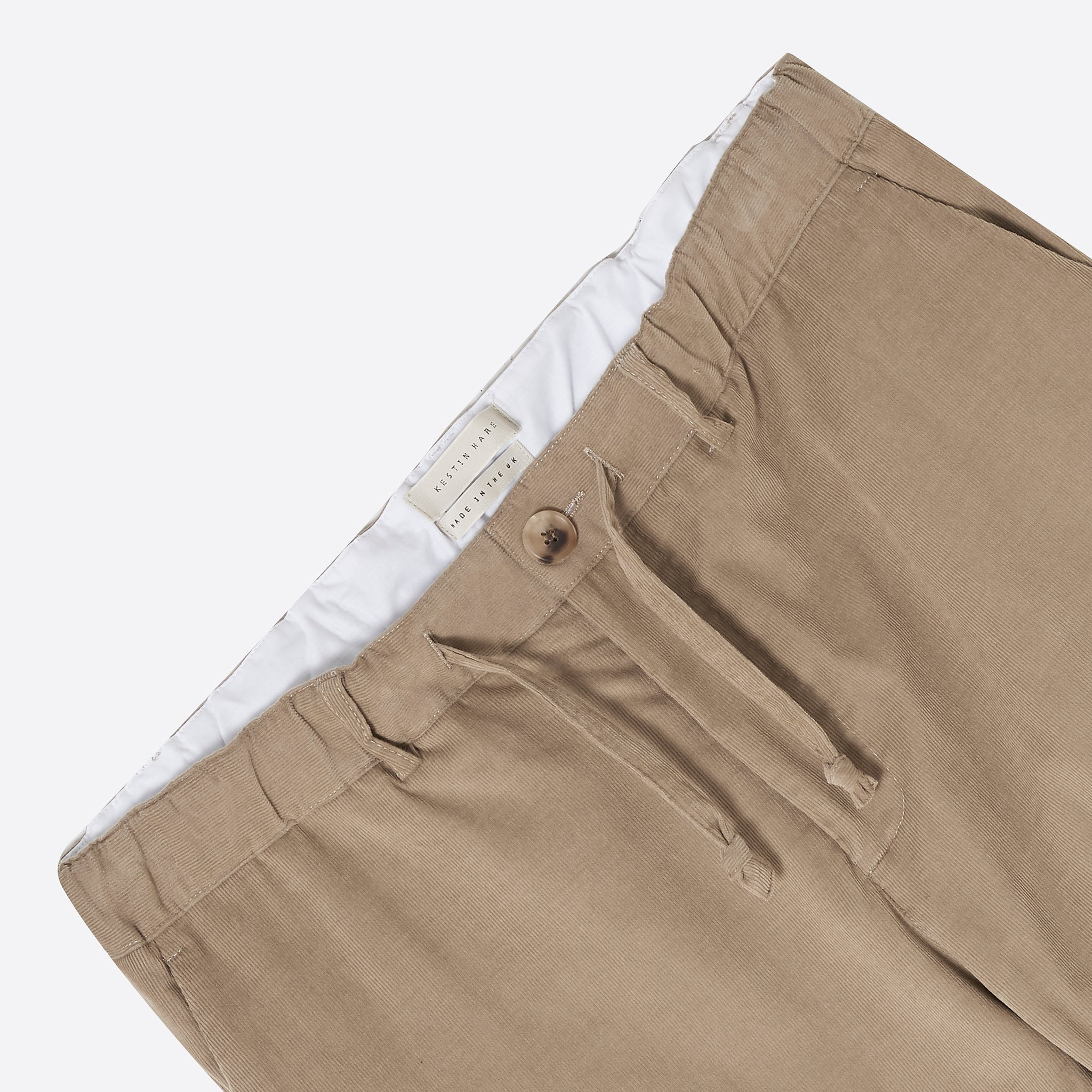 Kestin Hare Inverness Cord Trousers in Sand