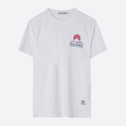 Kings of Indigo Darius T-Shirt in White Fuji