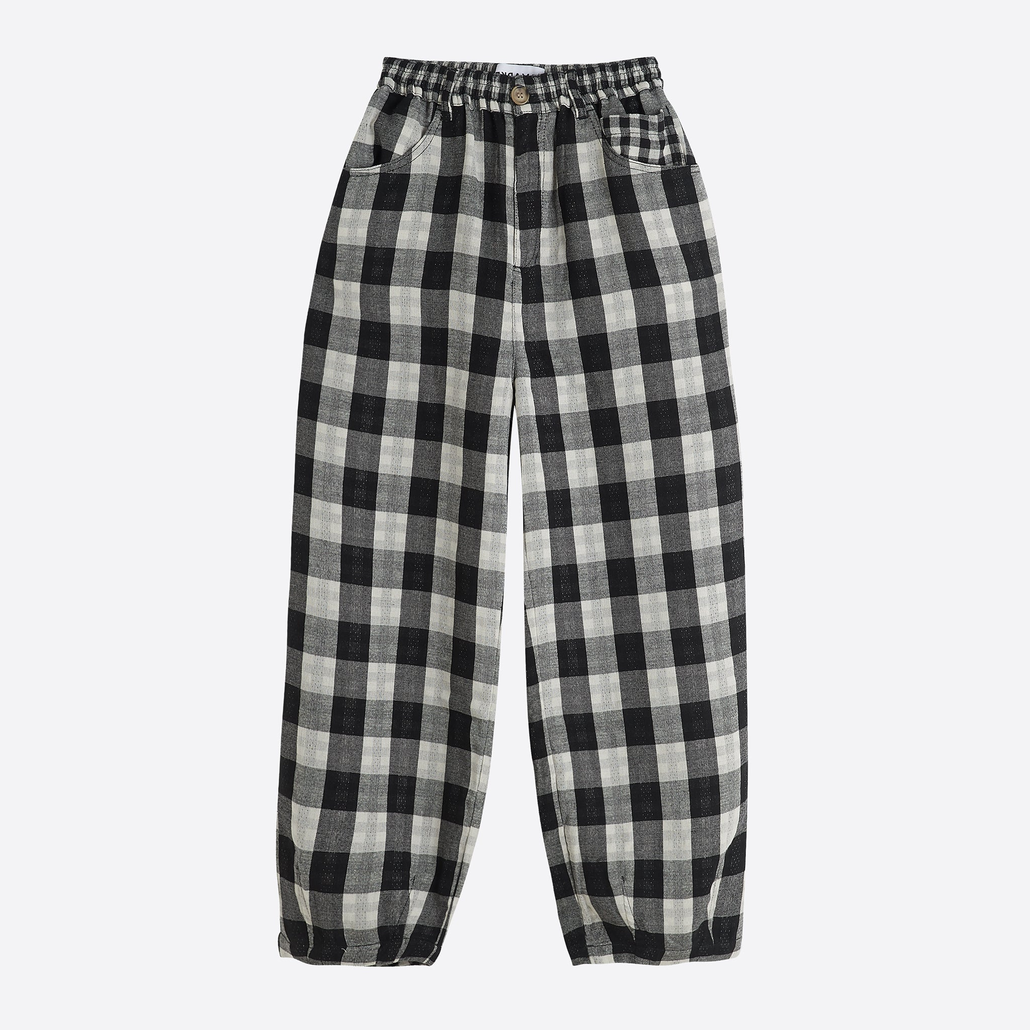LF Markey Fat Boy Trousers in Black Check