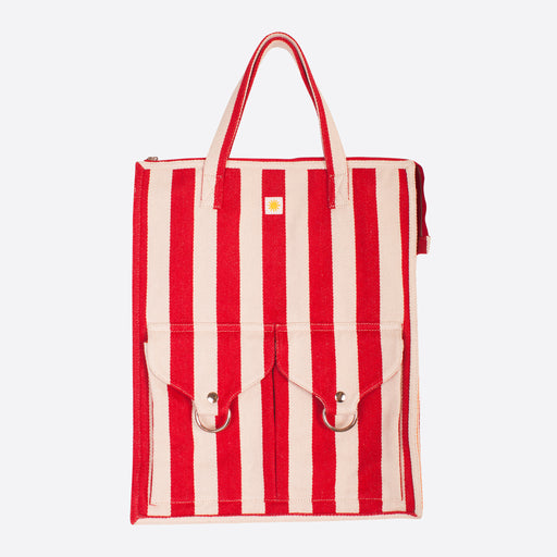 LF Markey Striped Beach Bag in Red