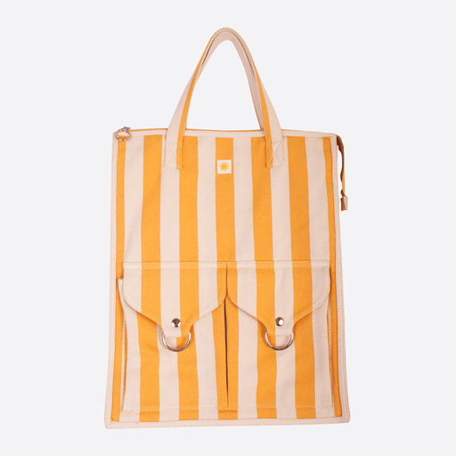 LF Markey Striped Beach Bag in Yellow