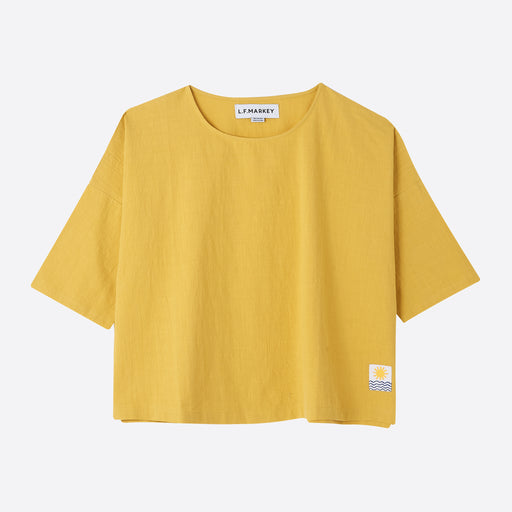 LF Markey Basic Linen Top in Saffron