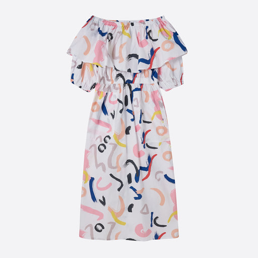 LF Markey Botany Print Dress in White