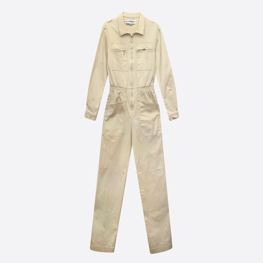 LF Markey Danny Long Sleeve Boilersuit In Ivory