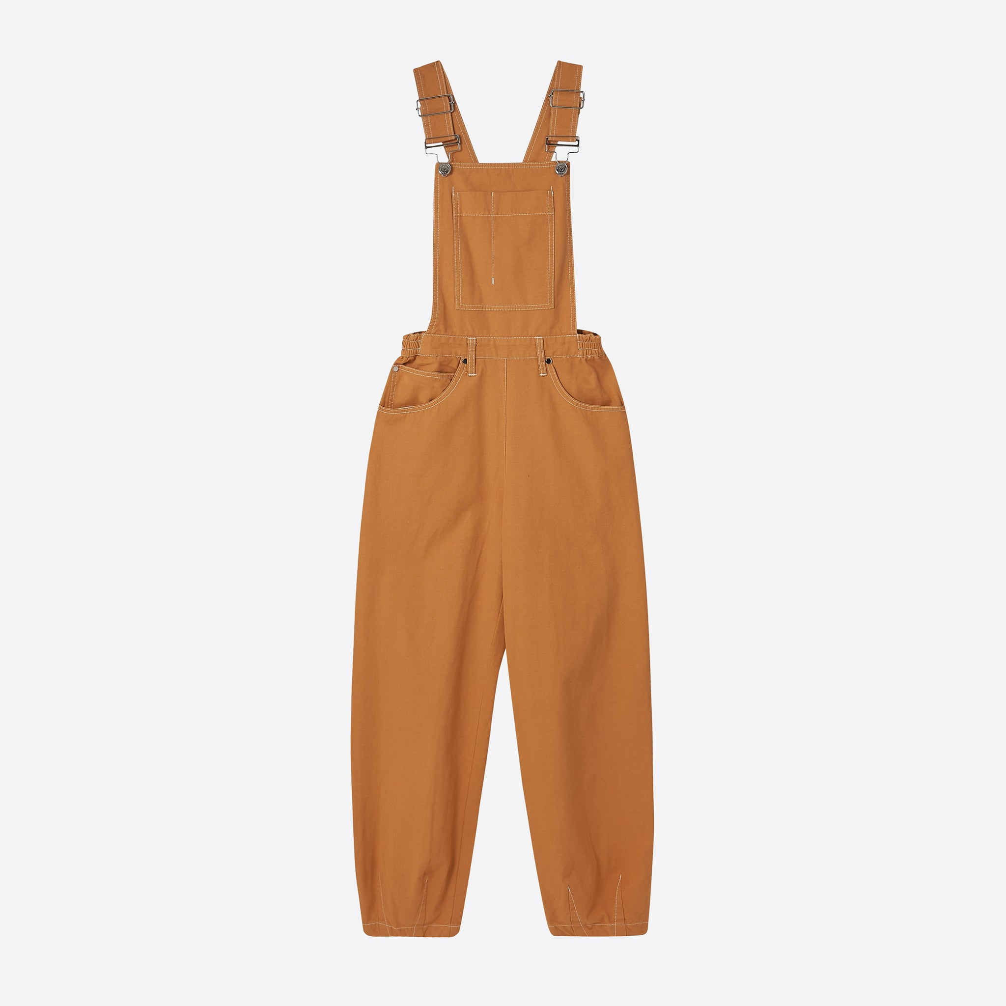 613a3e06aa4 LF Markey Fat Boys Dungarees in Camel — Our Daily Edit
