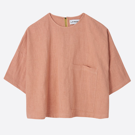 63ab10e4668 LF Markey Harley Linen Top in Dusty Pink