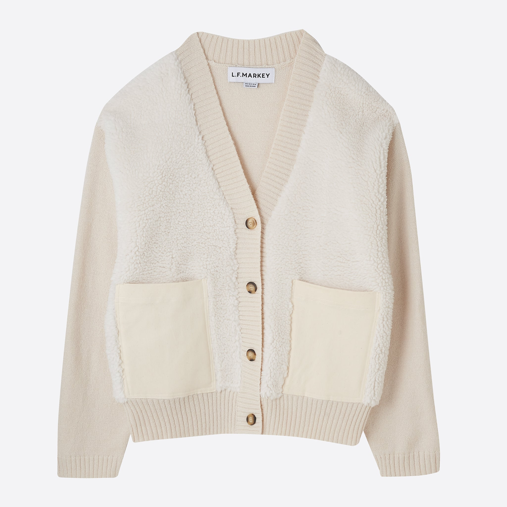 LF Markey Moe Cardigan in Ivory