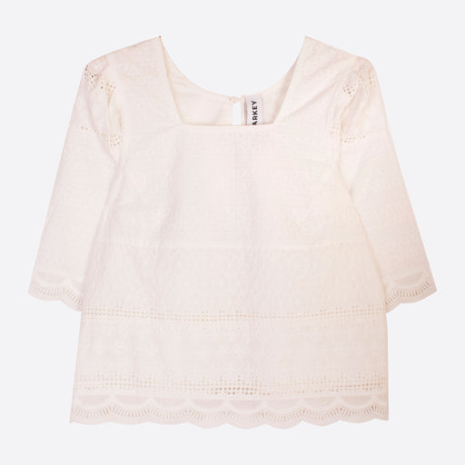 LF Markey Maximillian Top in White Broderie Anglaise