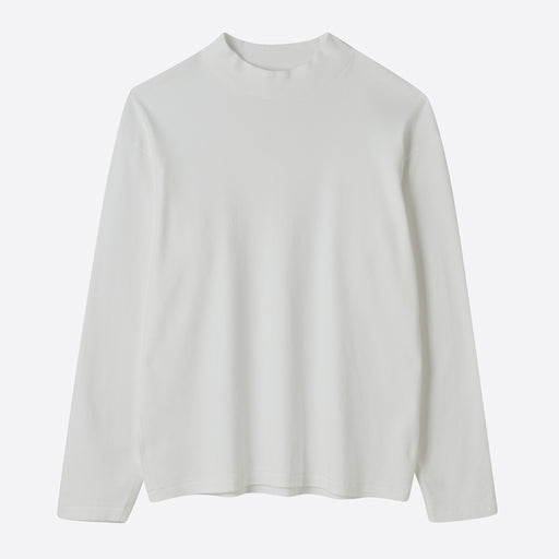 Lady White Co. Long Sleeve Mock Neck in White