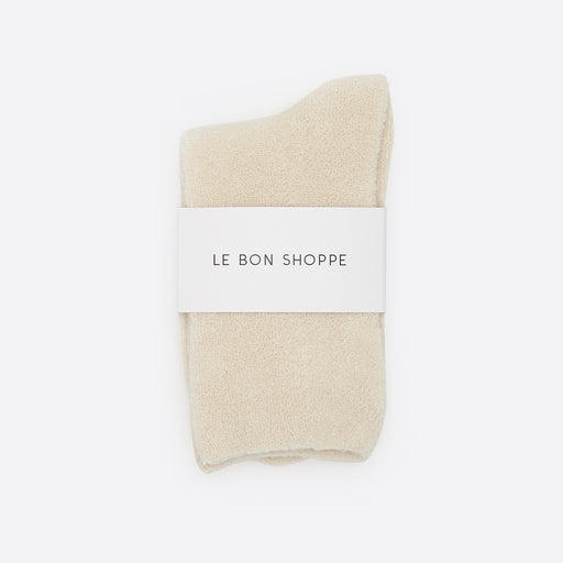 Le Bon Shoppe Cloud Socks in Ecru