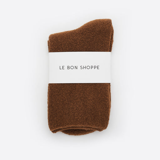 Le Bon Shoppe Cloud Socks in Sepia
