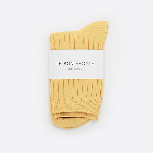 Le Bon Shoppe Her Socks in Buttercup