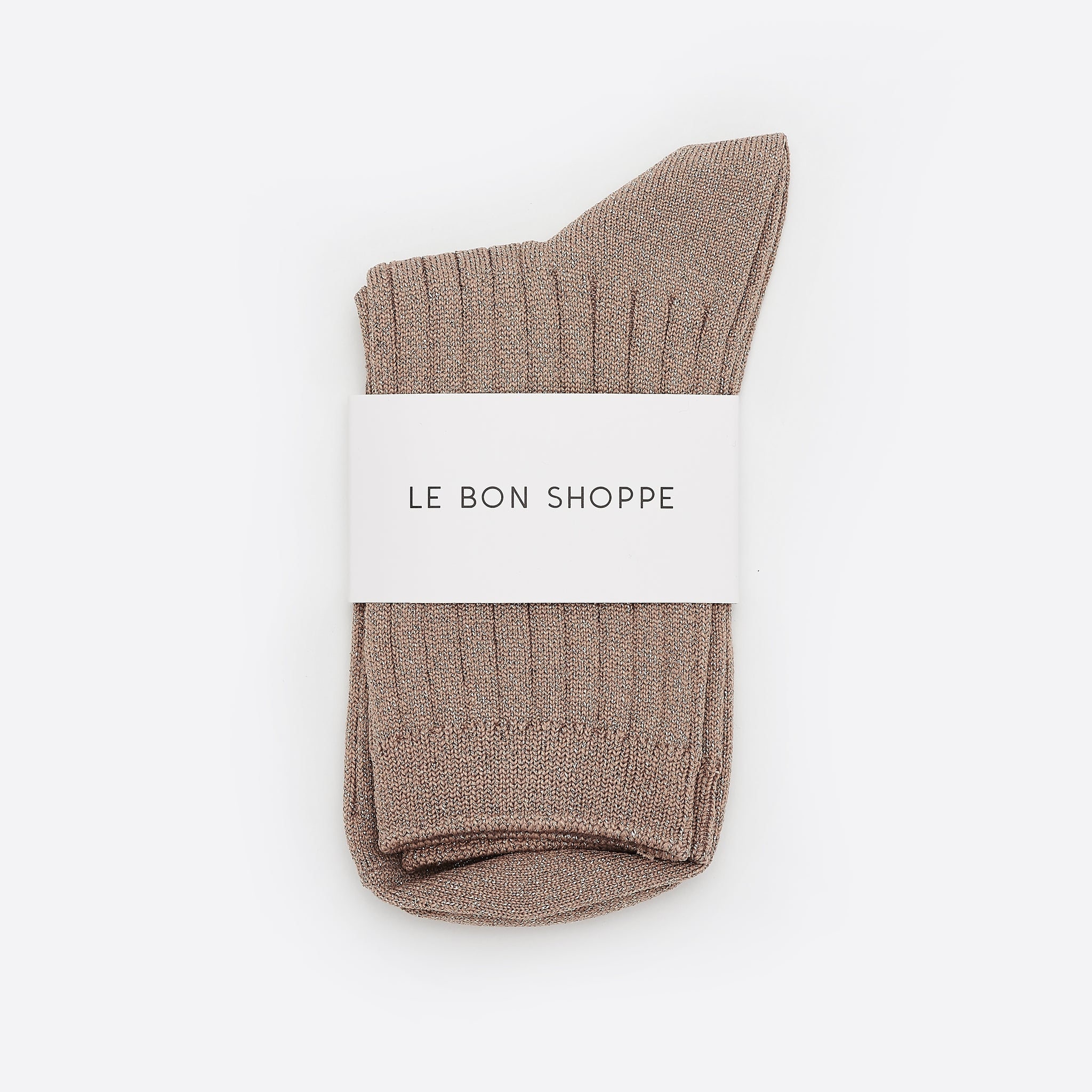 Le Bon Shoppe Her Socks in Glittery Jute
