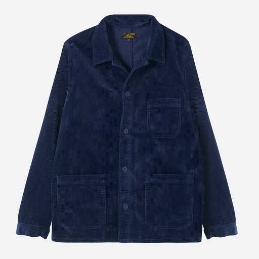 Le Mont Saint Michel Work Jacket in Navy Corduroy