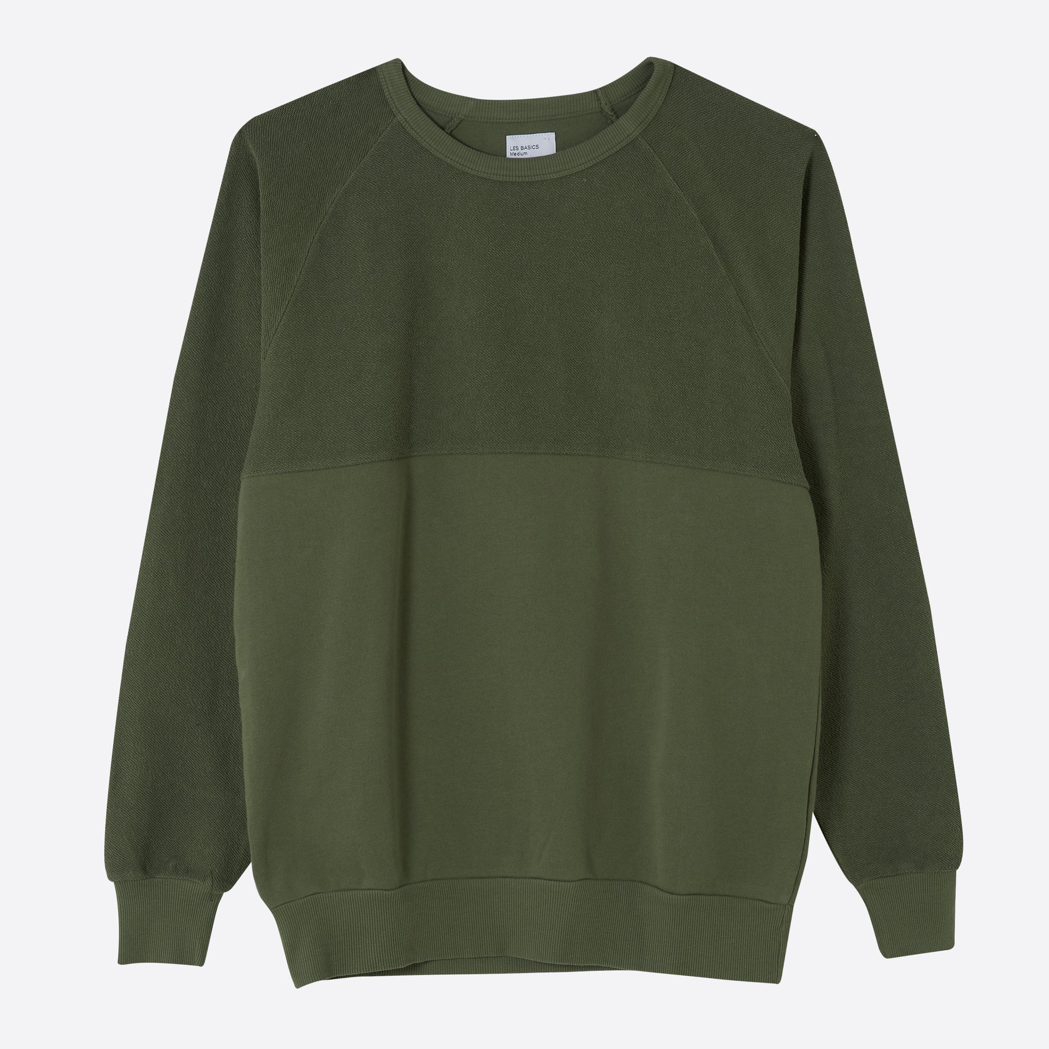 Les Basics Le 5050 Sweat in Army Green