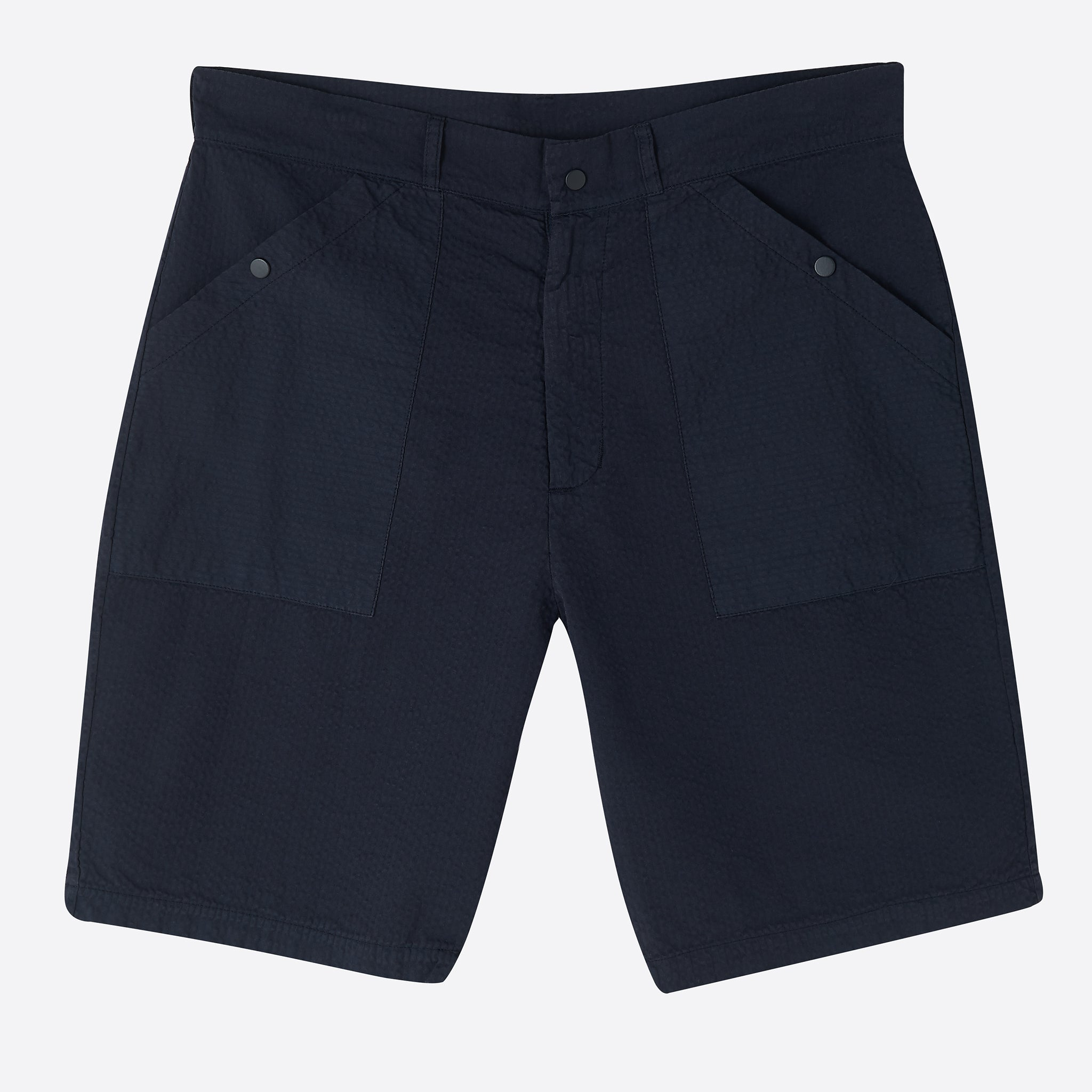 Les Basics Le Patch Shorts in Navy
