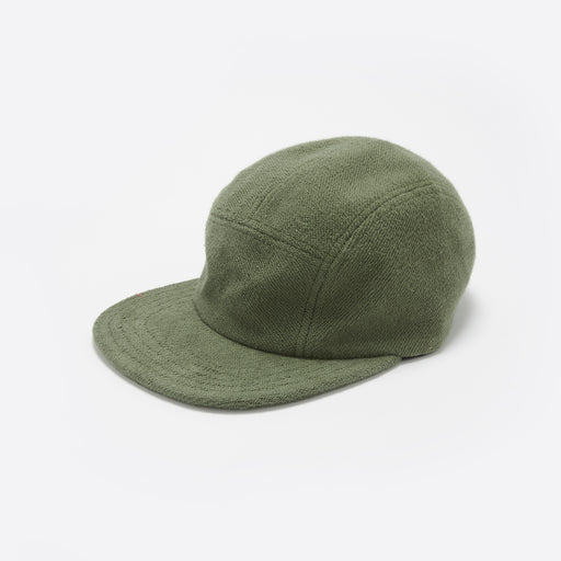 Les Basics Le Peak Cap in Army Green