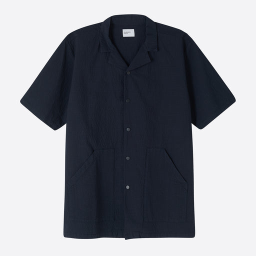 Les Basics Le Vacation Shirt in Navy