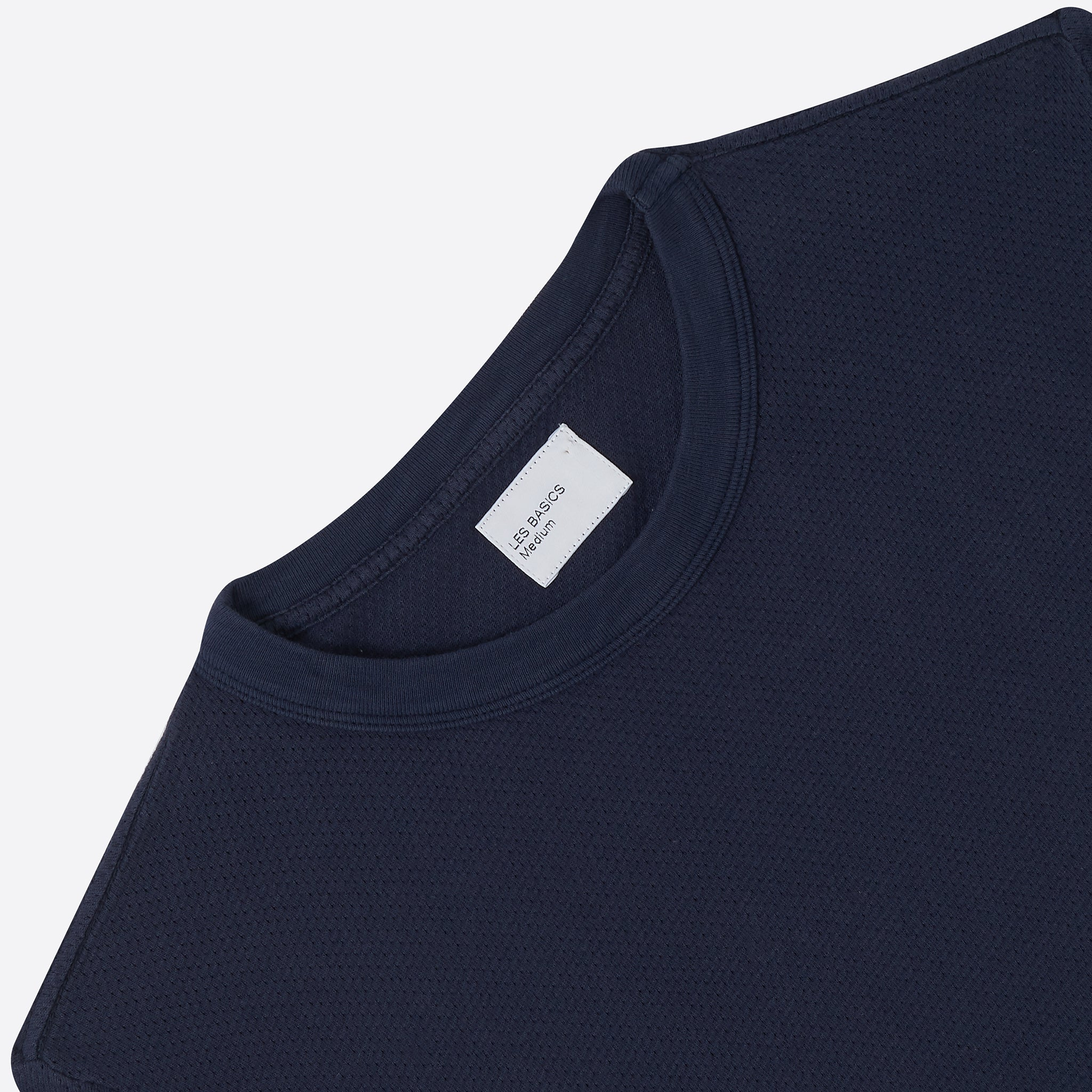 Les Basics Le Crew Tee in Navy