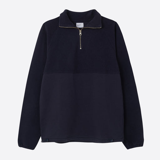 Les Basics Le Zip Sweat in Navy