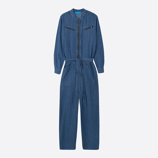 M.i.h Jeans Margot All In One in Indigo Stripe