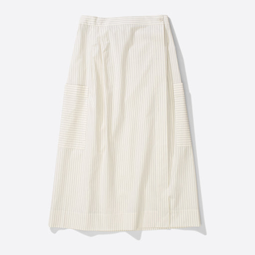 Norse Projects Julietta Wrap Skirt in Ecru