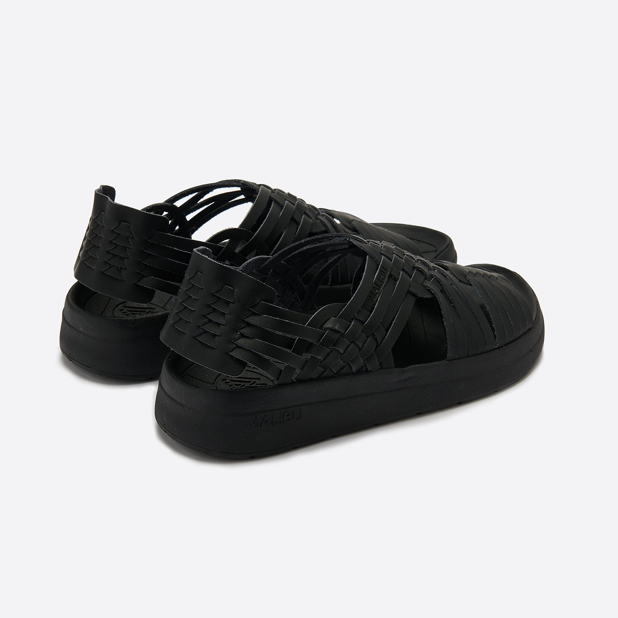 Malibu Sandals Canyon Classic in Black Vegan Leather