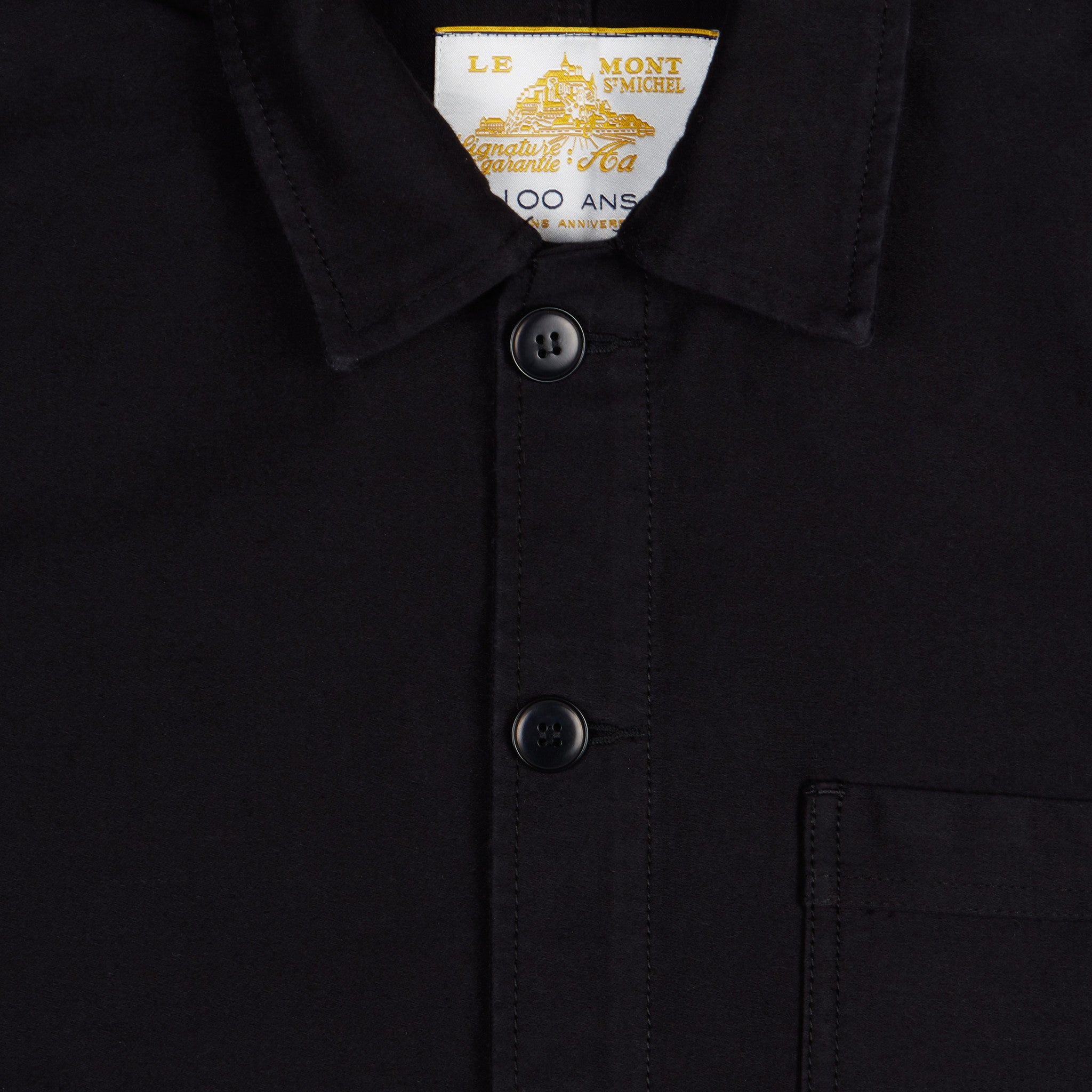 Le Mont Saint Michel Work Jacket in Black