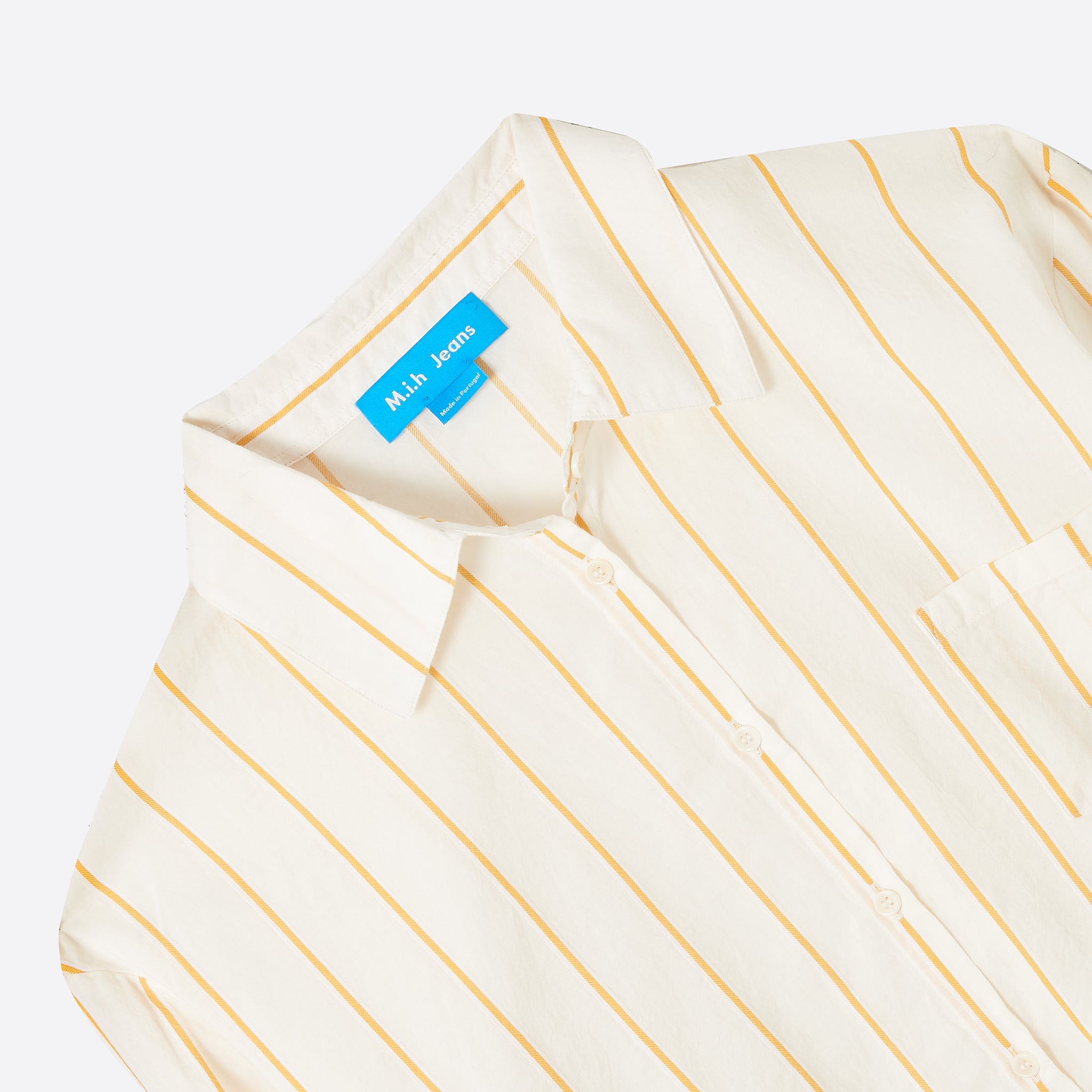 M.i.h Jeans Dylan Shirt in Cream and Mimosa