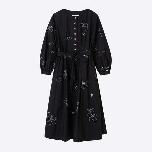 Mr Larkin Miller Dress in Black Hilma Embroidery