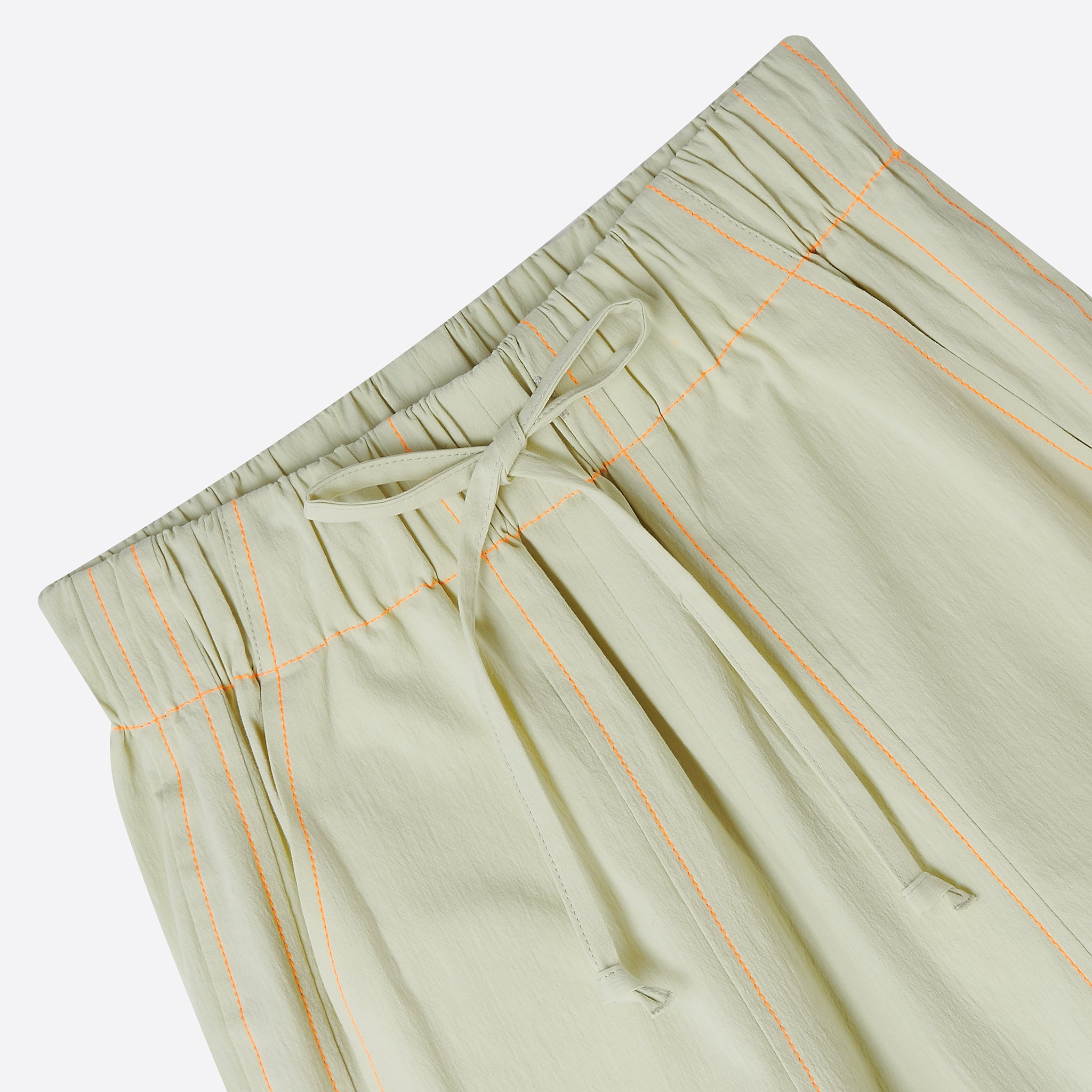 Neul Contrast Stitch Comfy Pants in Lime Cream