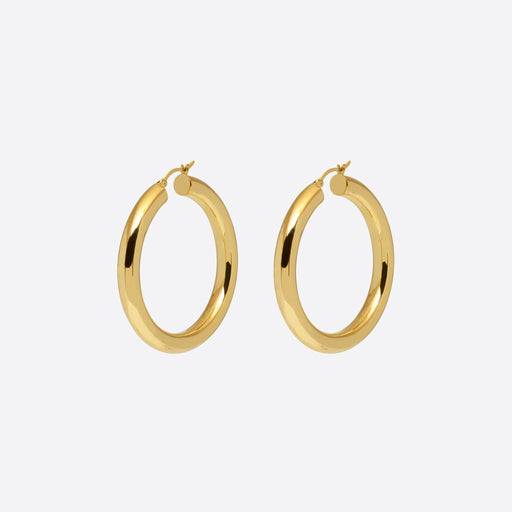 Nagle and Sisters Saros Hoops in Gold
