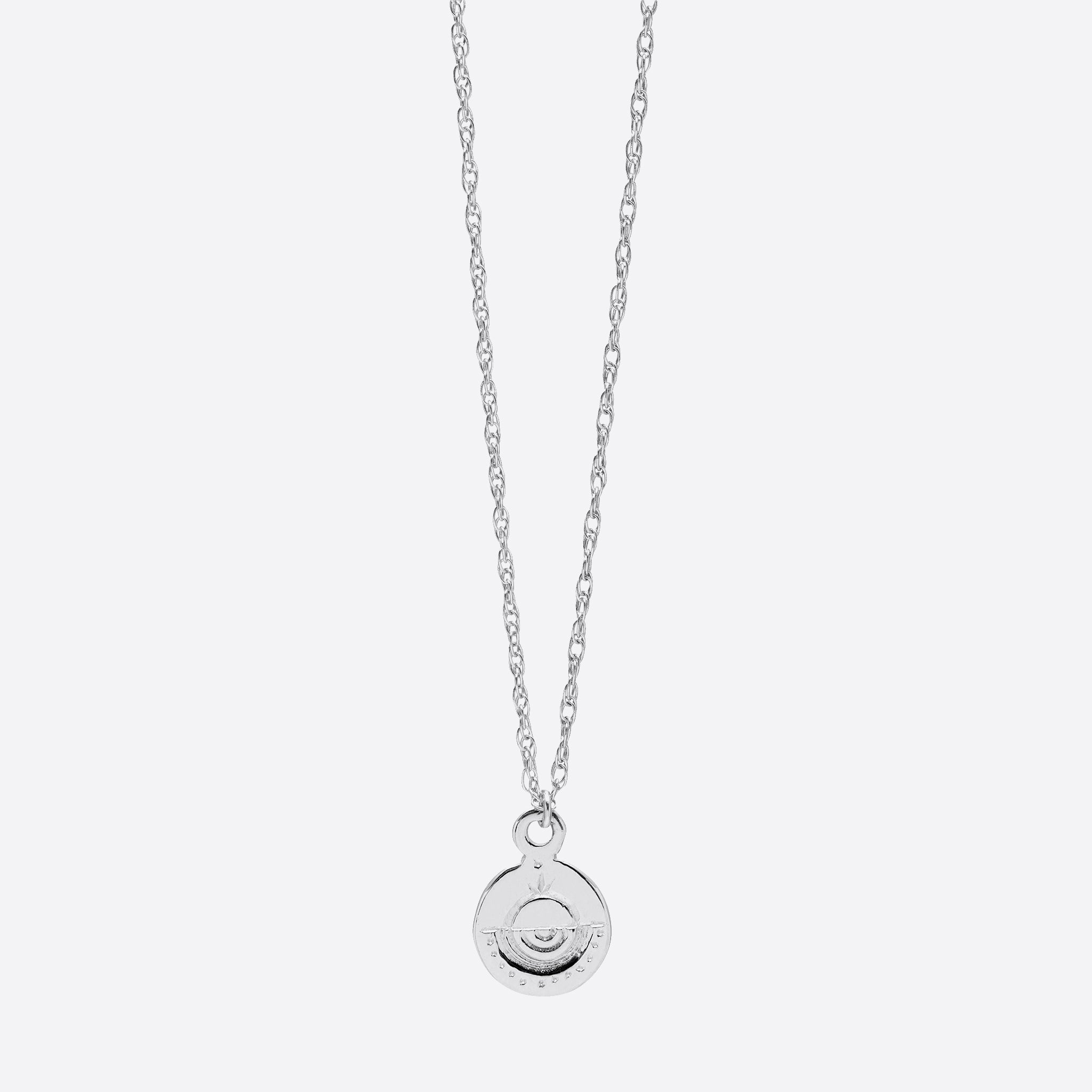 Nagle and Sisters Circle Token Necklace in Silver