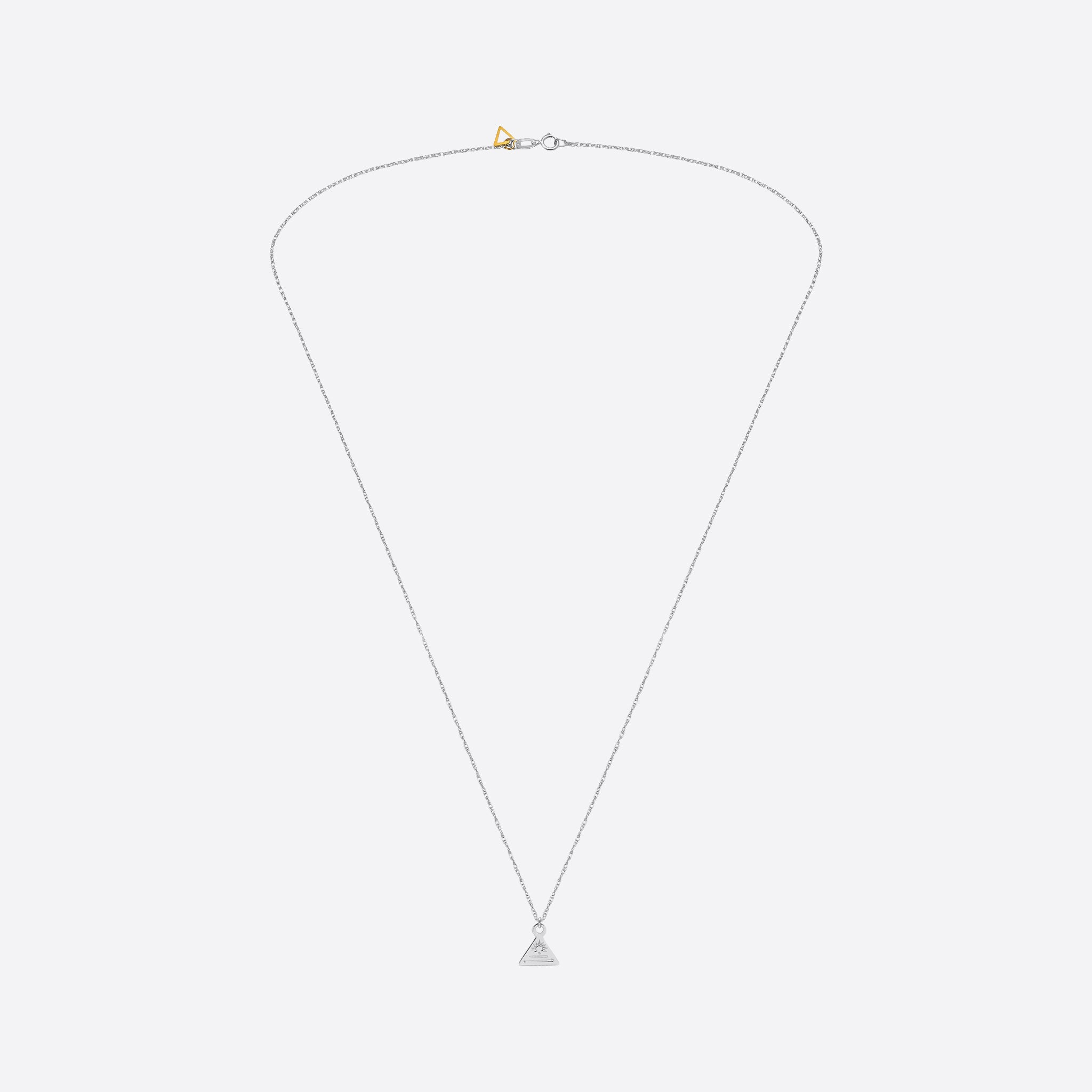 Nagle and Sisters Triangle Token Necklace in Silver