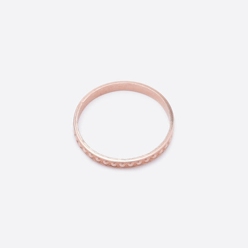 Nagle and Sisters Dot Ring in Rose Gold