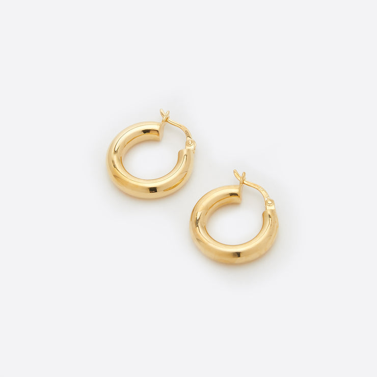 Nagle and Sisters Solar Hoops in Gold