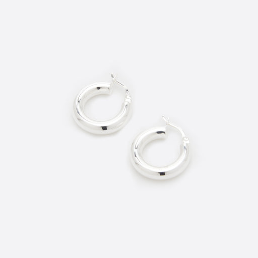 Nagle and Sisters Solar Hoops in Silver
