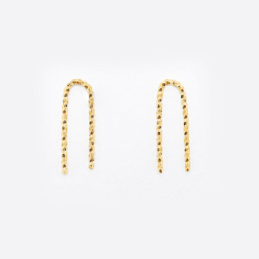 Nagle and Sisters Sparkle Staple Earrings in Gold