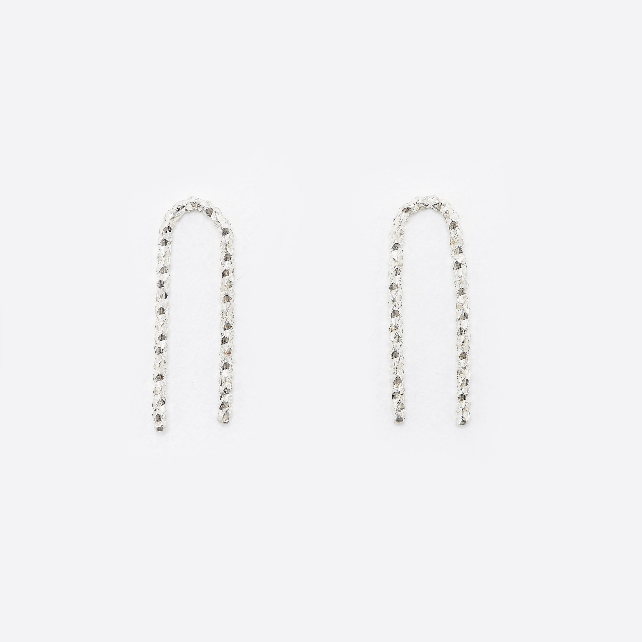 Nagle and Sisters Sparkle Staple Earrings in Silver