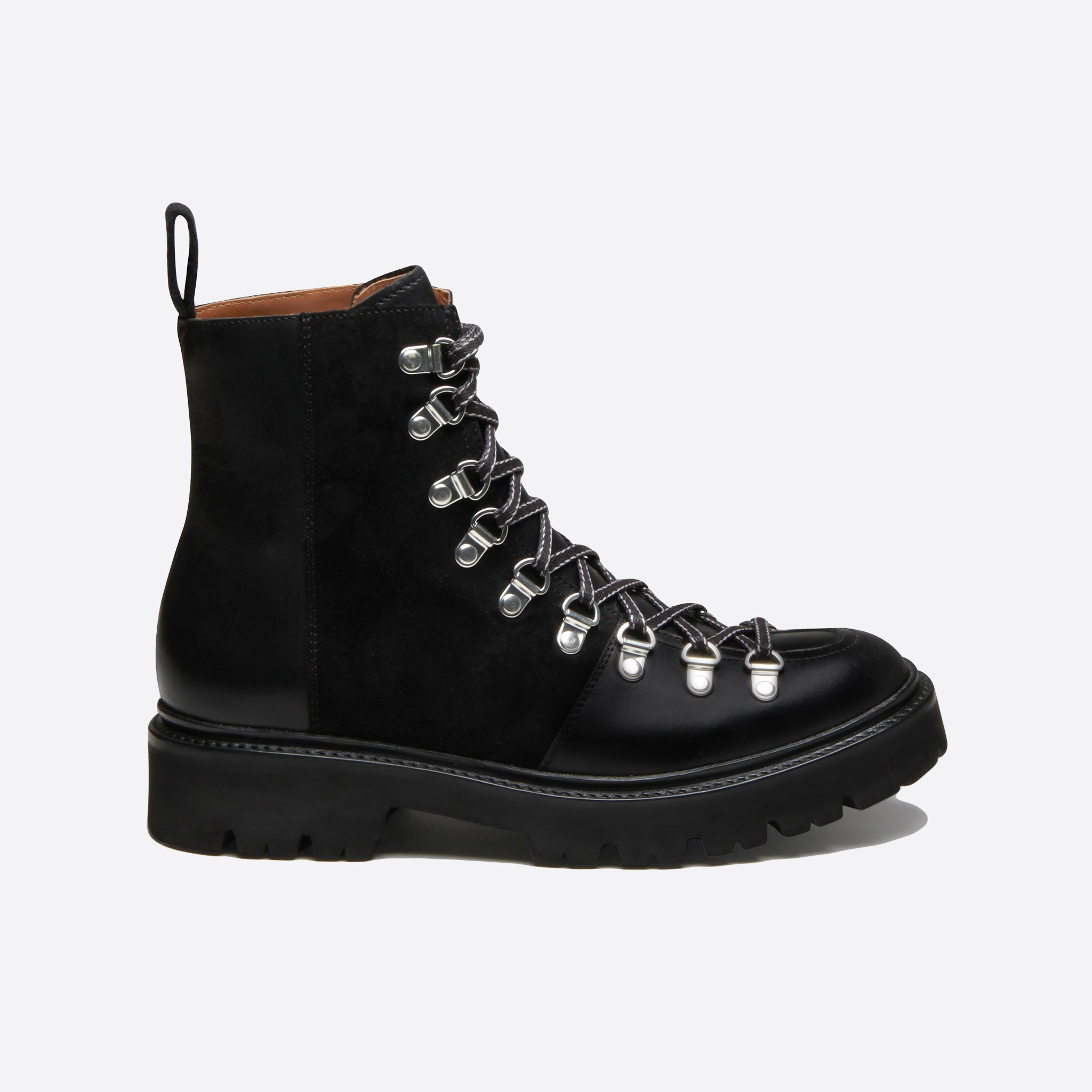 Grenson Nanette Boots in Black Colorado Leather