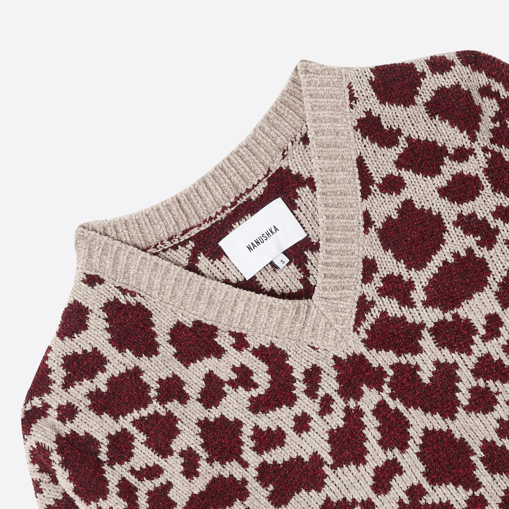 Nanushka Jamel Jumper in Ocelot Red