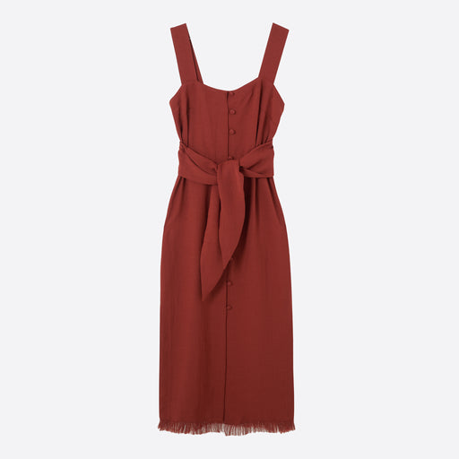 Nanushka Riley Dress in Brick