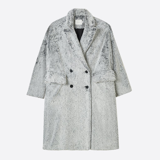 Neul Dyed Shearling Faux Fur Coat in Pussywillow Grey